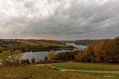 Widok na jeziora Brodno Male i Kłodno