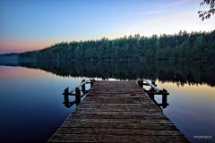 Pomost nad Jeziorem Borowo